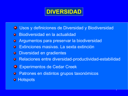 Diversidad y Biodiversidad. Usos y definiciones de estos