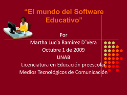 El mundo del Software Educativo