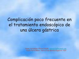 Complicaciones poco frecuentes en el tratamiento