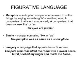 FIGURATIVE LANGUAGE - Howell Township Public Schools