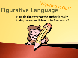 Figurative Language - Lake County Schools / Overview