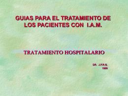 GUIAS PARA EL TRATAMIENTO DE LOS PACIENTES CON …