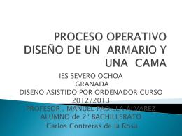 PROCESO DE ARMARIO Y CAMA