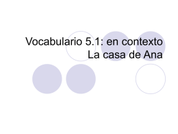 Vocabulario 5.1 en contexto