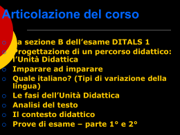 L1 - L2 - LS - Lingua seconda