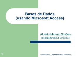 Bases de Dados Microsoft Access