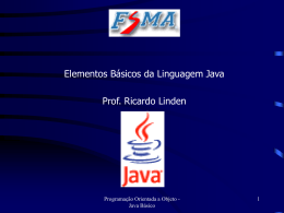 Java Language: Essential Elements