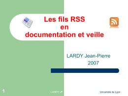 Les fils RSS en documentation et veille - ac