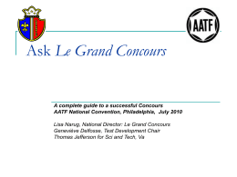 Ask Le Grand Concours