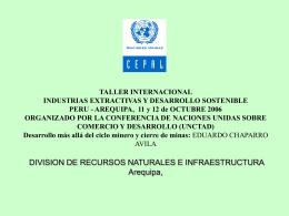 TALLER INTERNACIONAL INDUSTRIAS EXTRACTIVAS Y …