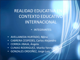 REALIDAD EDUCATIVA EN EL CONTEXTO EDUCATIVO …