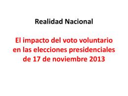 Realidad Nacional El impacto del voto voluntario en las