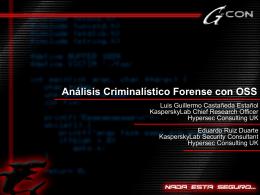 Analisis Criminalistico Forense con OSS
