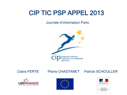 CIP TIC PSP INFODAY PARIS 2010