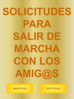 SOLICITUDES PARA SALIR DE MARCHA
