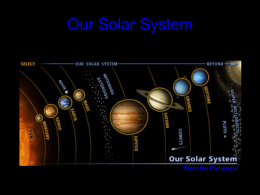 Our Solar System - Pinellas County Schools