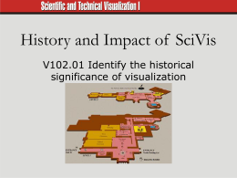 History and Impact of Sci. Vis.