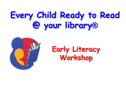 Early Literacy Workshop For Two- and Three