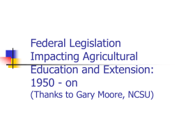 Federal Legislation - University of Arkansas