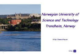 Norwegian University of Science and Technology …