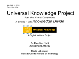 Universal Knowledge - MIT Media Lab: Digital Nations
