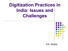 Digitization Practices in India