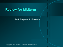 Review for Midterm - Columbia University