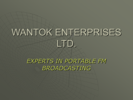 WANTOK ENTERPRISES LTD. - Outlet Woolrich