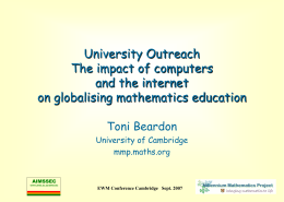 The Motivate Project - Faculty of Mathematics