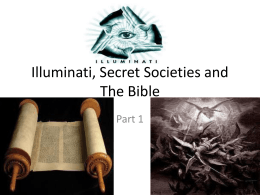 Illuminati, Gods, and The Bible