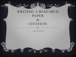 Crucial parts of writing a research paper