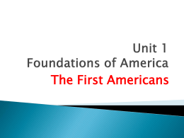 Unit 2 Foundations of America