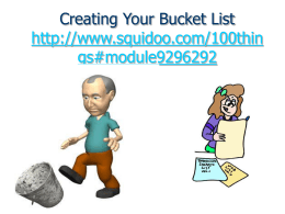 Creating your bucket list - Wikispaces