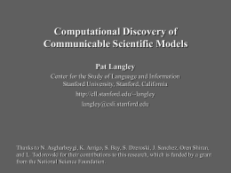 Computational Discovery of Communicable Knowledge