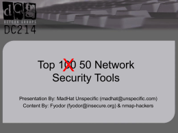 Top 100 Network Security Tools