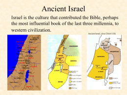 Ancient Israel - Illinois Valley Community College