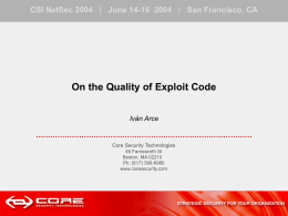 On the Quality of Exploit Code