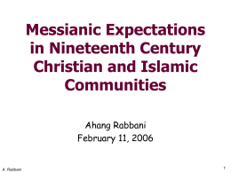 Messianic Expectations in 19th Century Christian and