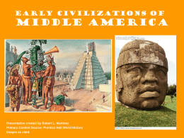 Early Civilizations of Mesoamerica