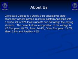 Glendowie College E Paucis Excelsa