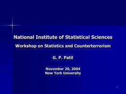 NIST Presentation - National Institute of Statistical Sciences