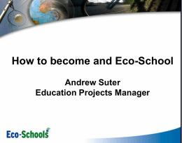 Eco-Schools Award Scheme