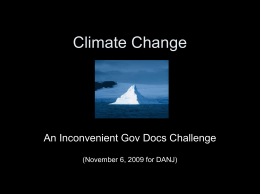 Climate Change - DANJ Homepage