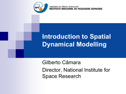 Introduction to Spatial Dynamical Modelling