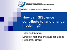 How can GIScience contribute to LUCC modelling?