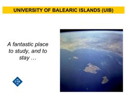 Diapositiva 1 - Universitat de les Illes Balears