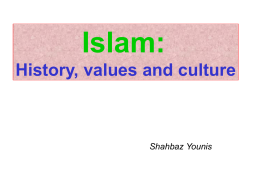 Islam - History, Value, Cultures