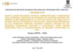 EQUIPO DE TRABAJO UNFPA-UEC