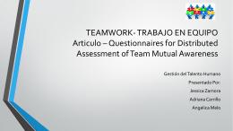 TEAMWORK- TRABAJO EN EQUIPO