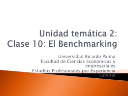 Clase 4: El Benchmarking